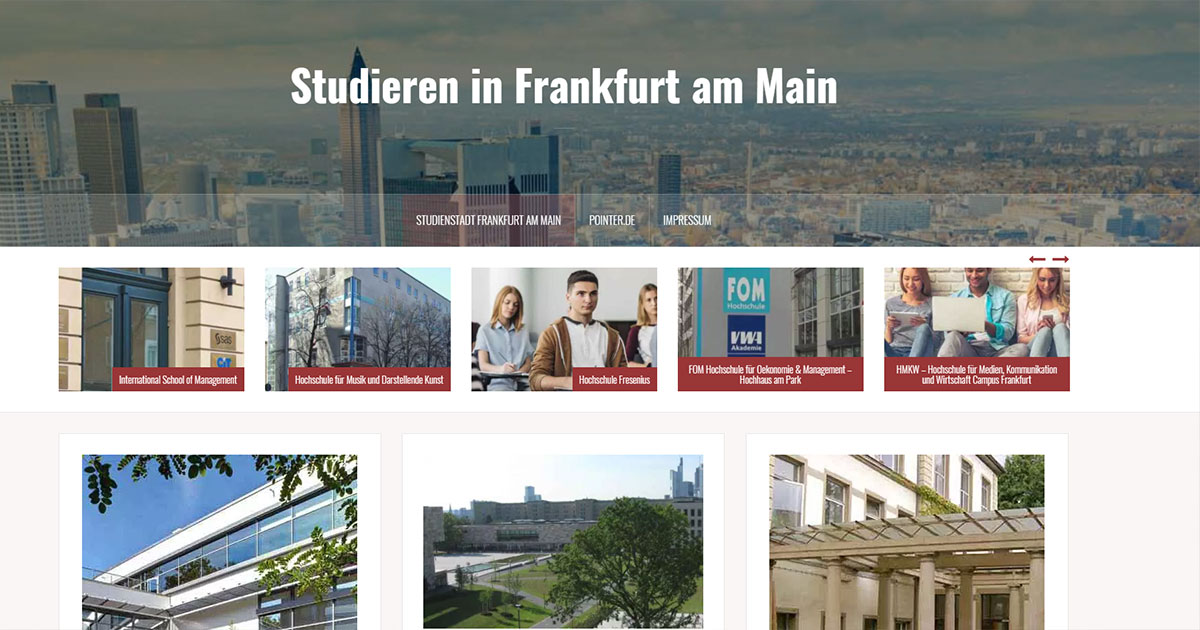 studienstadt frankfurt am main studieren in frankfurt am main. Black Bedroom Furniture Sets. Home Design Ideas